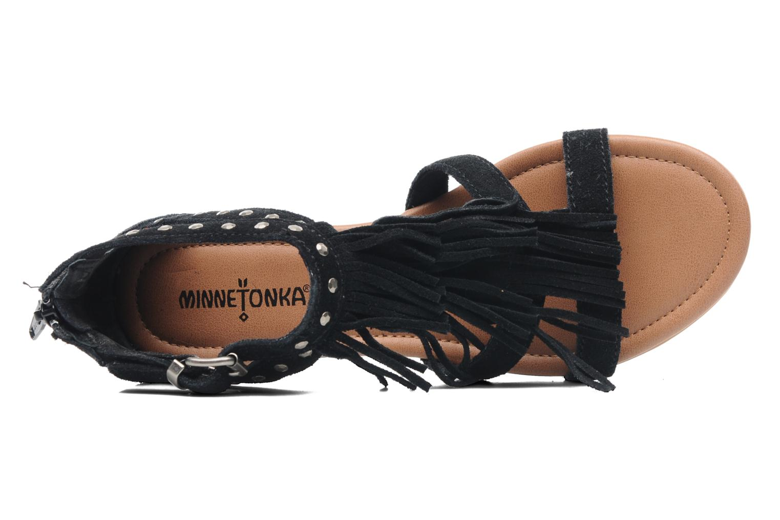 Sandals Minnetonka Monaco Black view from the left