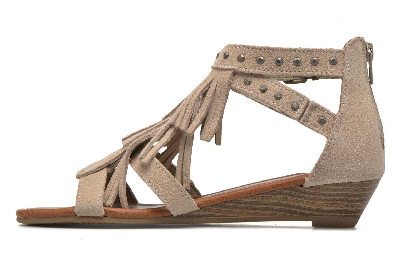 Sandales et nu-pieds Minnetonka Monaco Beige vue face
