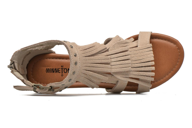 Sandales et nu-pieds Minnetonka Monaco Beige vue gauche
