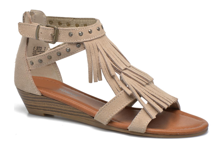 Sandales et nu-pieds Minnetonka Monaco Beige vue détail/paire
