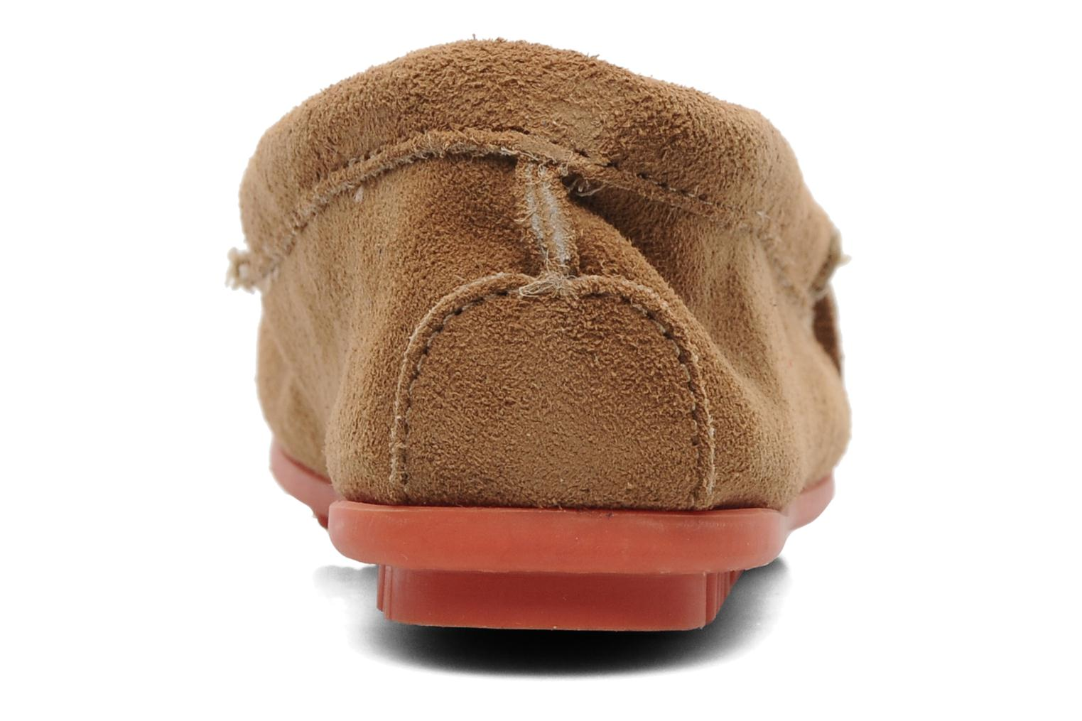 Loafers Minnetonka Kilty Suede Moc/Col Sole Beige view from the right