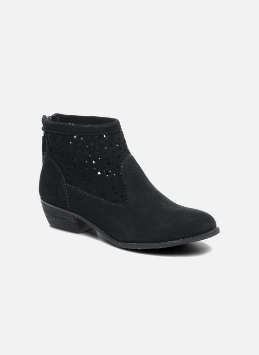 Ankle boots Minnetonka Cutout Boot Black detailed view/ Pair view