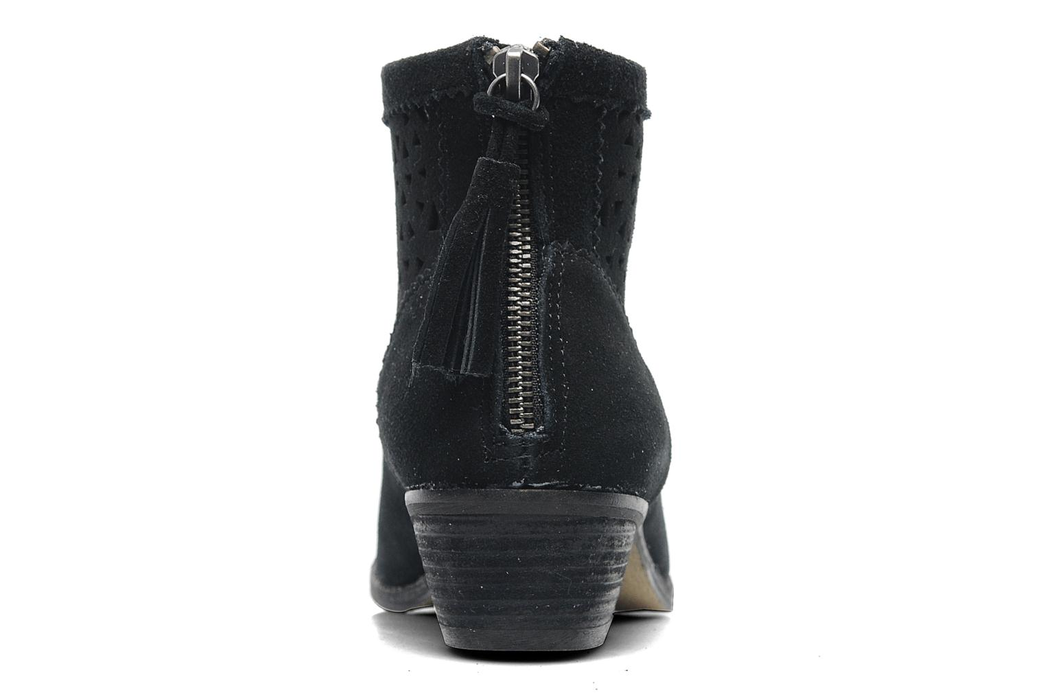Ankle boots Minnetonka Cutout Boot Black view from the right