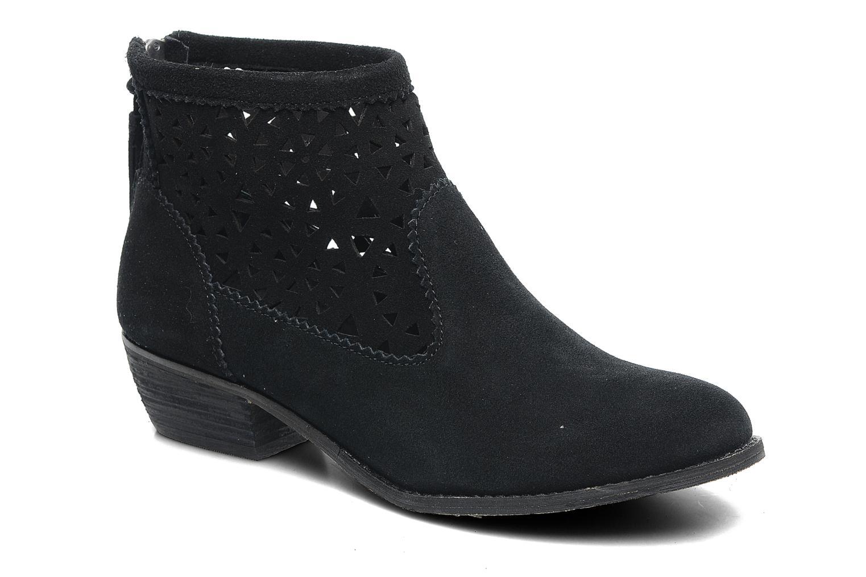 Ankelstøvler Minnetonka Cutout Boot Sort detaljeret billede af skoene