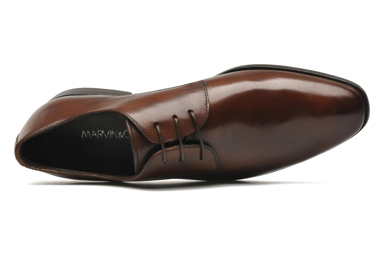 Chaussures à lacets Marvin&Co Nicovée Marron vue gauche