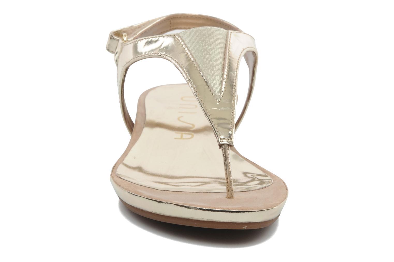 Sandaler Unisa Abira Guld og bronze se skoene på