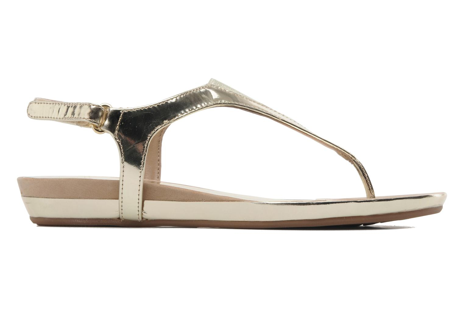Sandals Unisa Abira Bronze and Gold back view