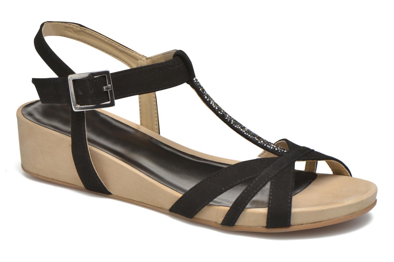 Sandals Unisa Boili Black detailed view/ Pair view
