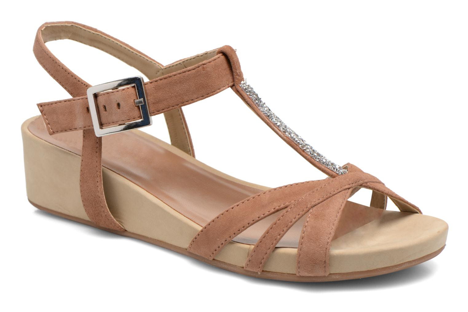 Sandals Unisa Boili Brown detailed view/ Pair view