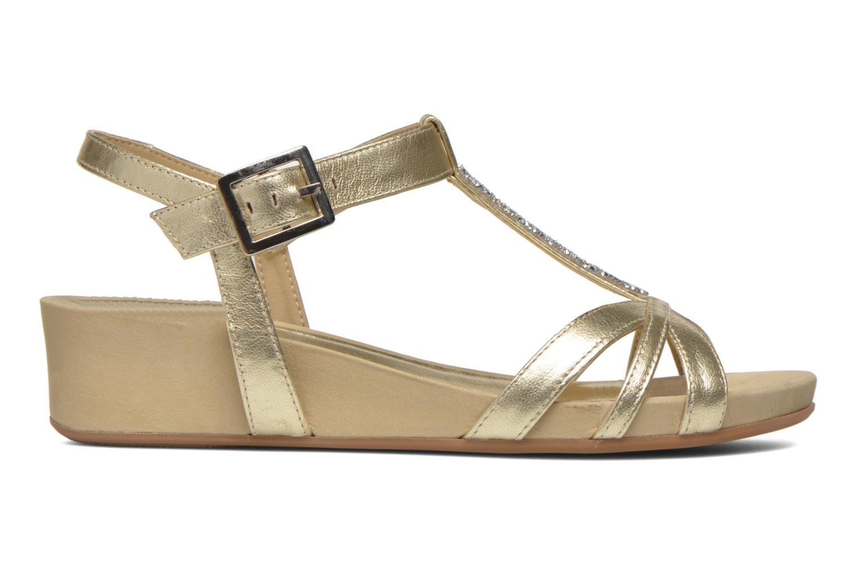 Sandalen Unisa Boili gold/bronze ansicht von hinten