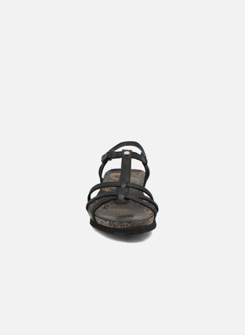 Sandales et nu-pieds Panama Jack Dori Noir vue portées chaussures