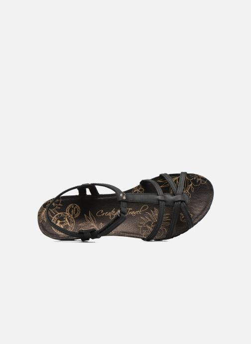 Sandalen Panama Jack Dori schwarz ansicht von links