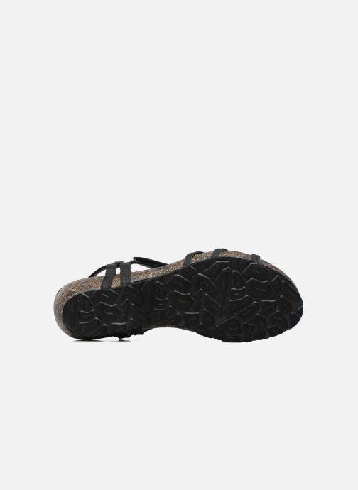 Sandales et nu-pieds Panama Jack Dori Noir vue haut