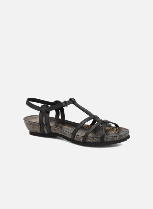 Sandalen Panama Jack Dori Zwart detail