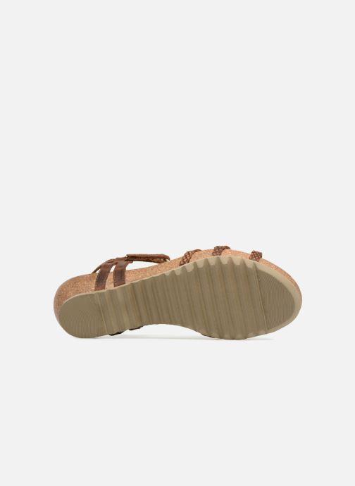 Sandalen Panama Jack Dori Bruin boven