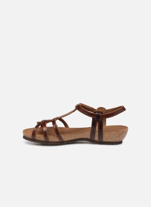Sandales et nu-pieds Panama Jack Dori Marron vue face