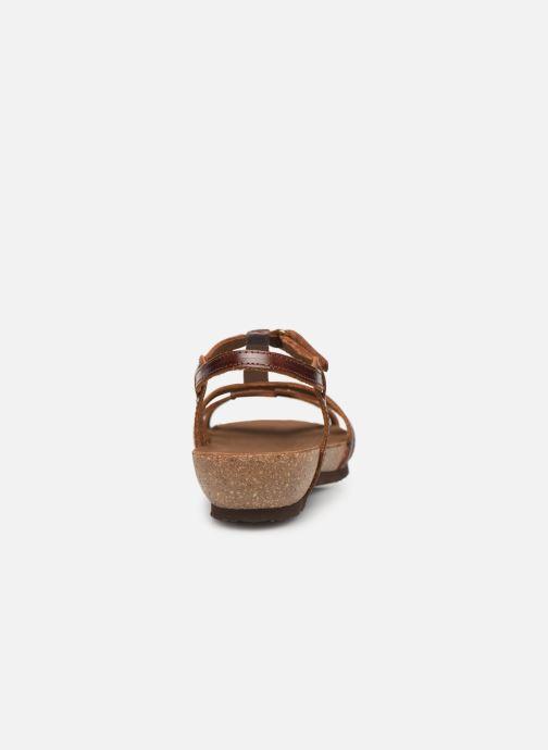 Sandales et nu-pieds Panama Jack Dori Marron vue droite