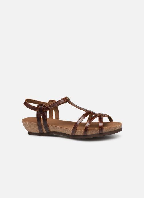 Sandales et nu-pieds Panama Jack Dori Marron vue derrière