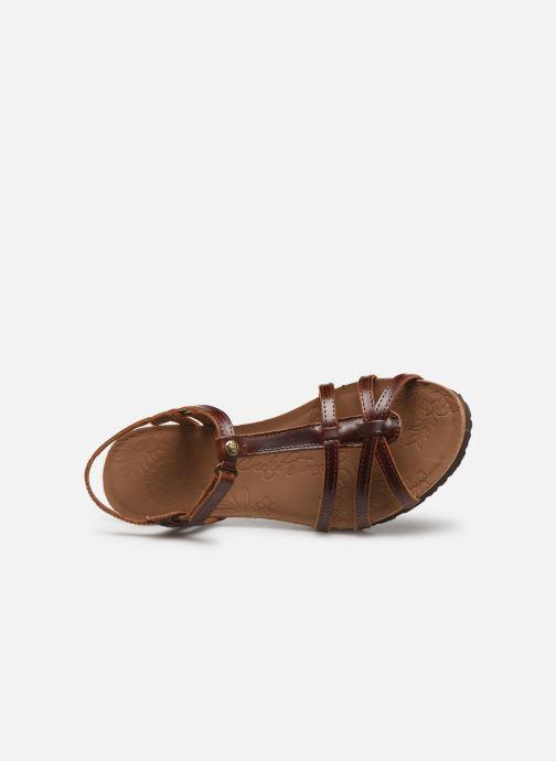 Sandales et nu-pieds Panama Jack Dori Marron vue gauche