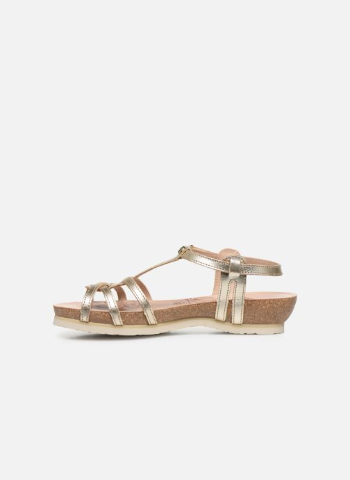 Sandalen Panama Jack Dori Goud en brons voorkant