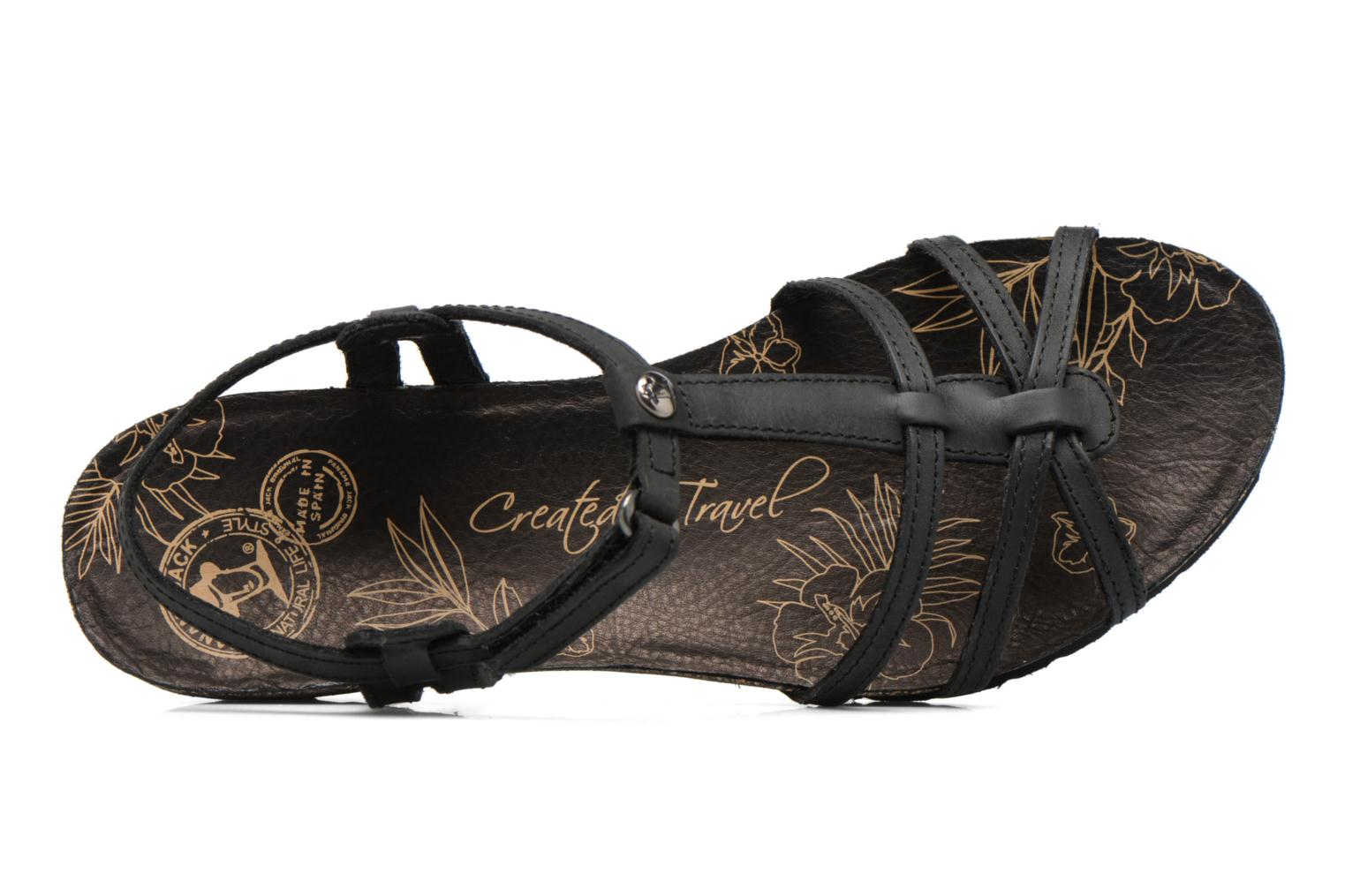 Sandals Panama Jack Dori Black view from the left