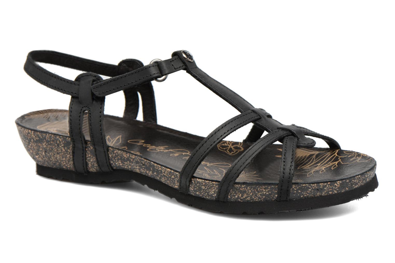 Sandals Panama Jack Dori Black detailed view/ Pair view