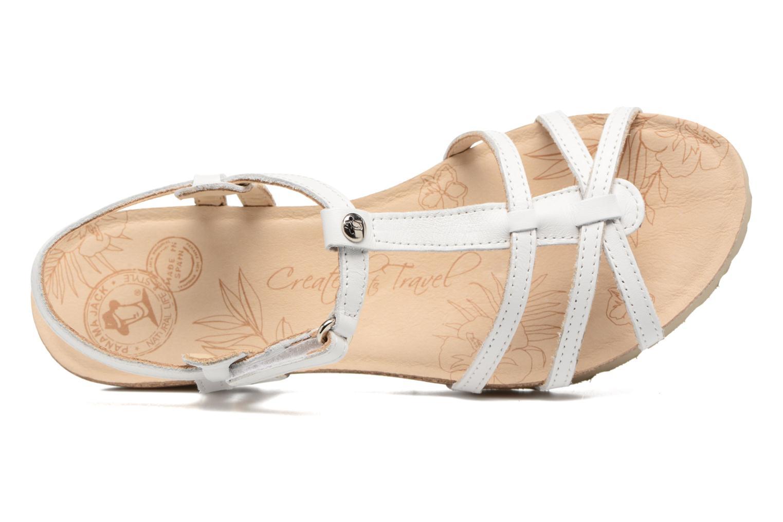 Sandales et nu-pieds Panama Jack Dori Blanc vue gauche