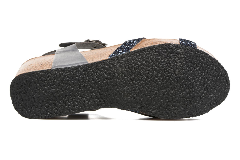 Sandales et nu-pieds Plakton So fine Bleu vue haut