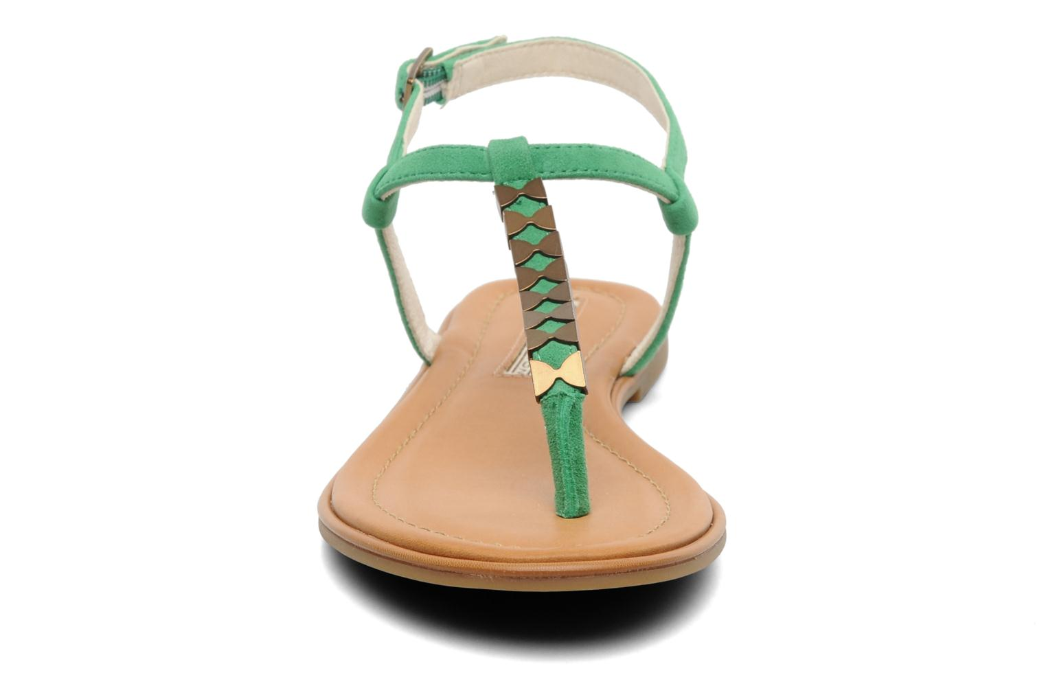 Sandals Buffalo Bawa Green model view