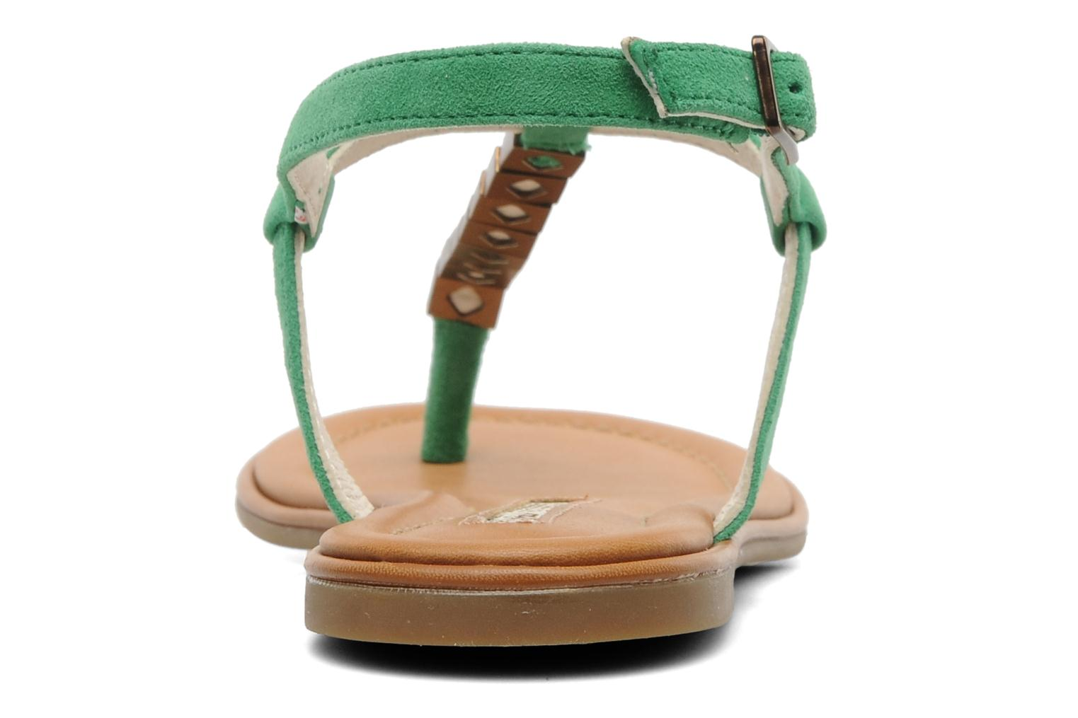 Sandals Buffalo Bawa Green view from the right
