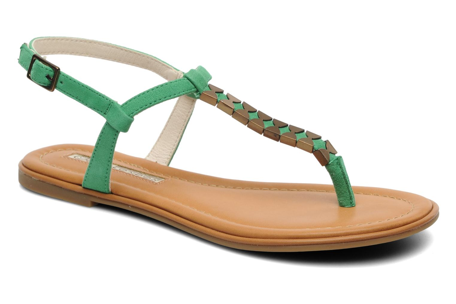 Sandals Buffalo Bawa Green detailed view/ Pair view