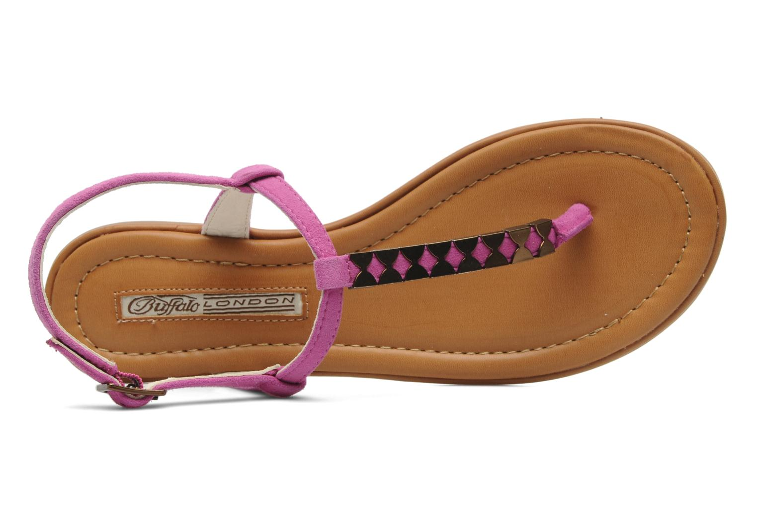 Sandals Buffalo Bawa Pink view from the left