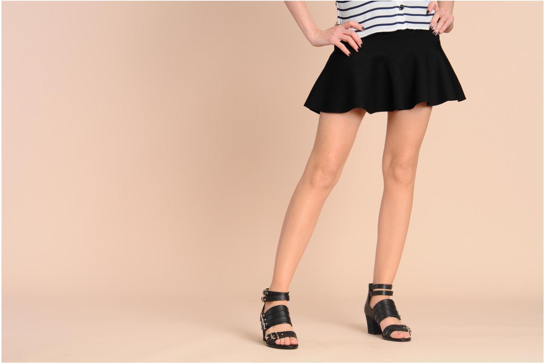 Sandales et nu-pieds Shellys London VALVORI Noir vue bas / vue portée sac