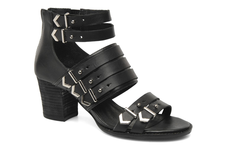 Sandales et nu-pieds Shellys London VALVORI Noir vue détail/paire