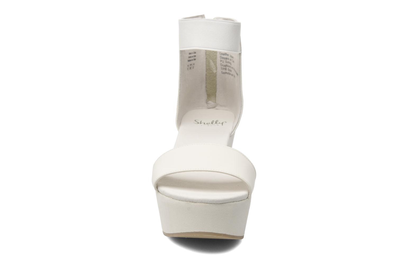 Sandales et nu-pieds Shellys London MAGNI Blanc vue portées chaussures