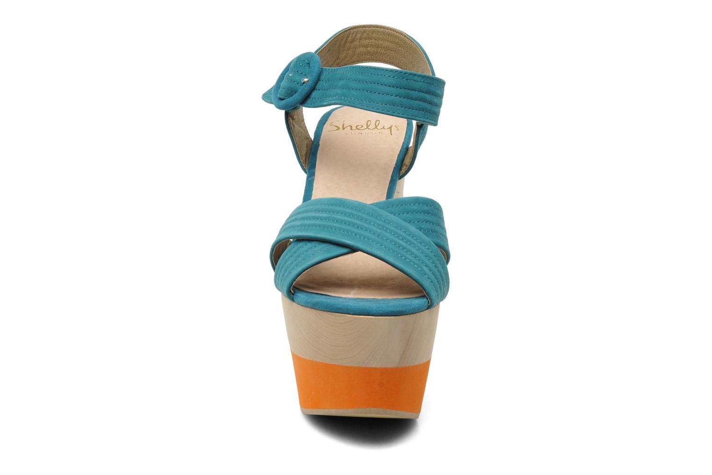 Sandalen Shellys London STRUDA grün schuhe getragen