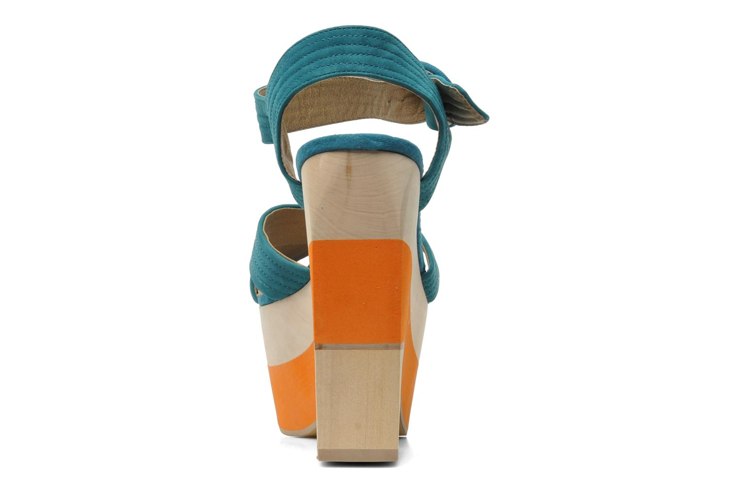 Sandals Shellys London STRUDA Green view from the right