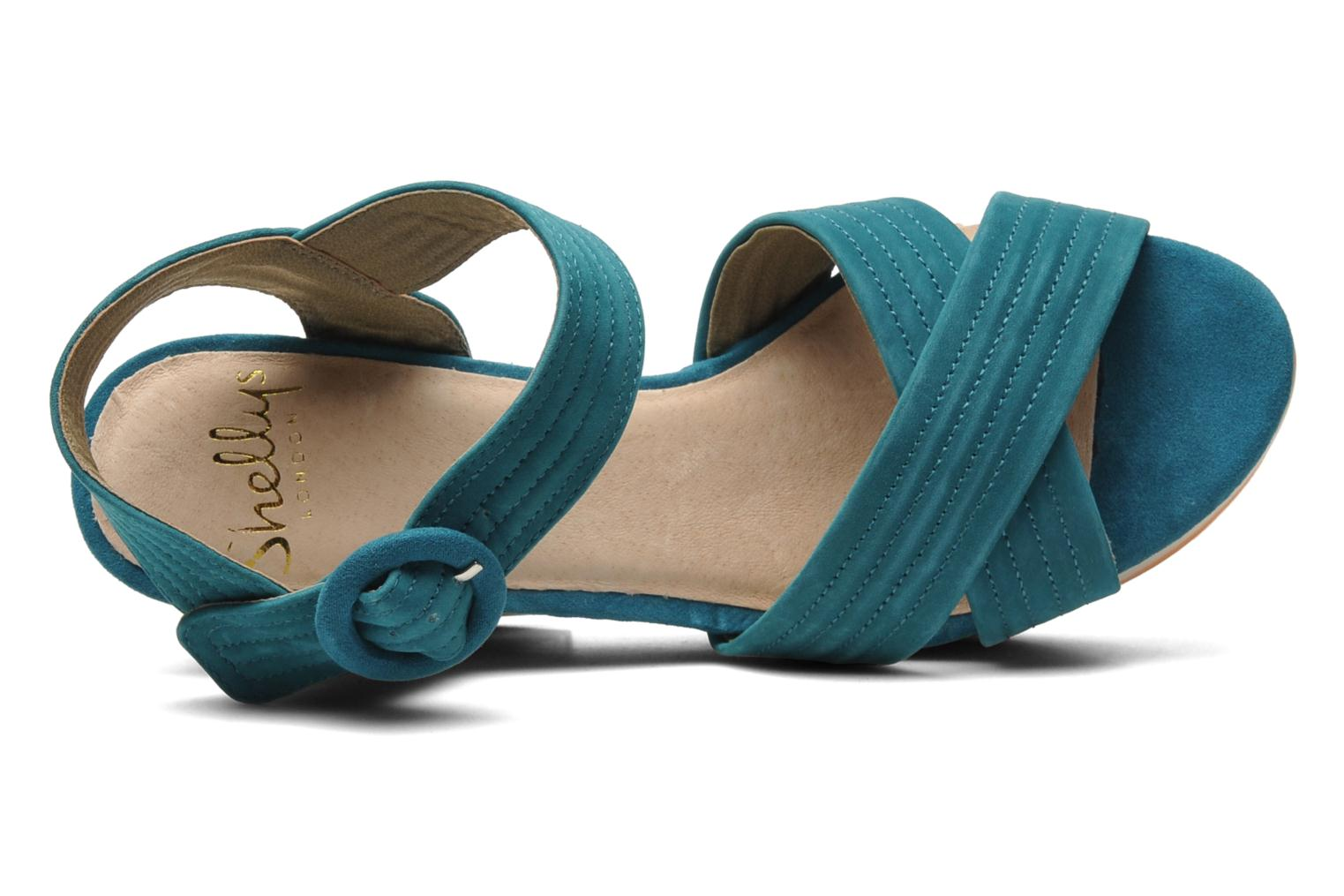 Sandals Shellys London STRUDA Green view from the left