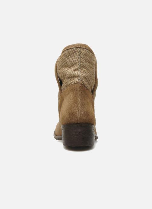 Bottines et boots Méliné Chanvre Beige vue droite