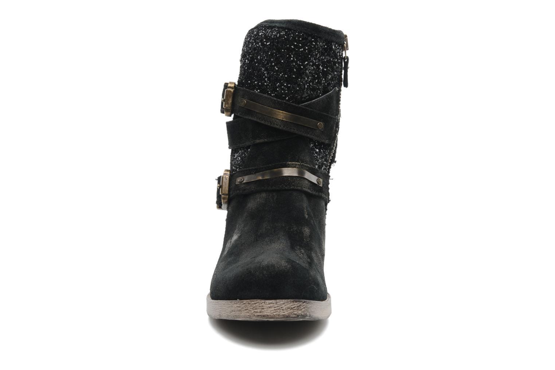 Bottines et boots Méliné Coton Noir vue portées chaussures