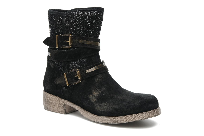 Bottines et boots Méliné Coton Noir vue détail/paire