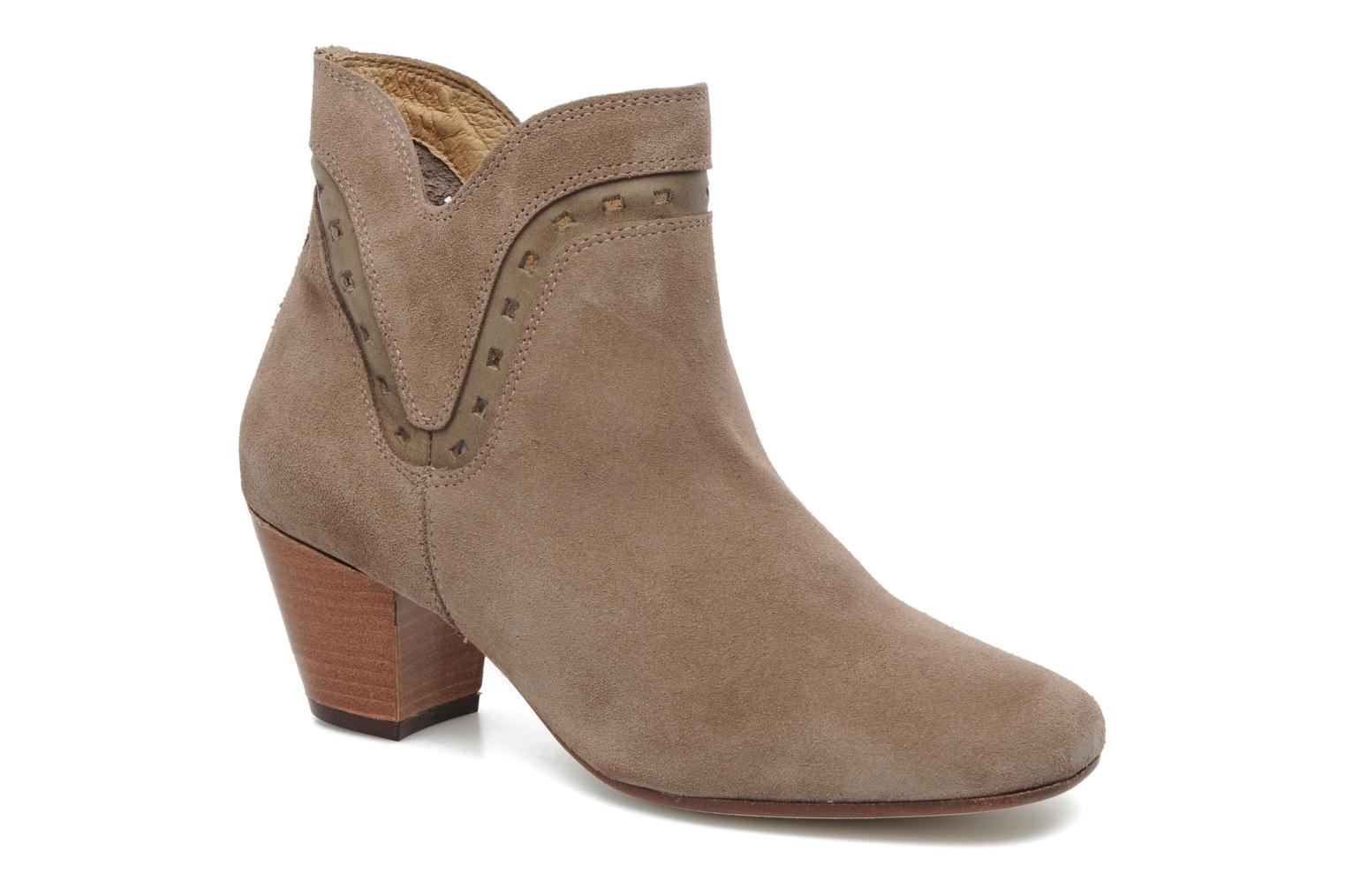 Ankle boots H by Hudson Rodin Beige detailed view/ Pair view