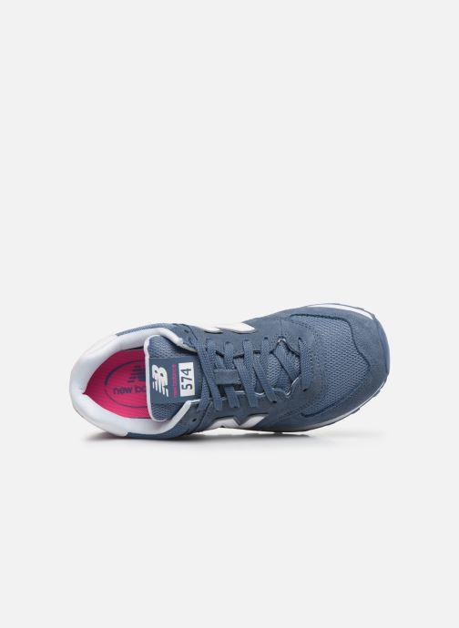 Baskets New Balance WL574 Bleu vue gauche