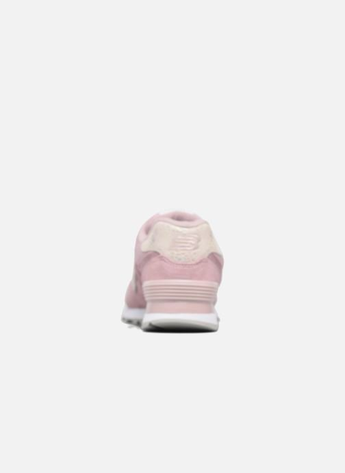 Trainers New Balance WL574 Pink view from the left