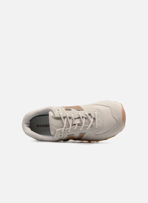 Baskets New Balance WL574 Blanc vue gauche