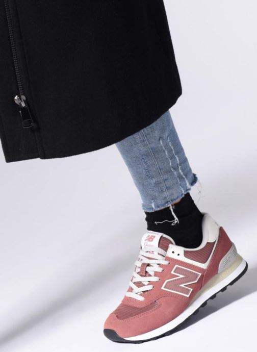 Sneakers New Balance WL574 Rosa immagine dal basso