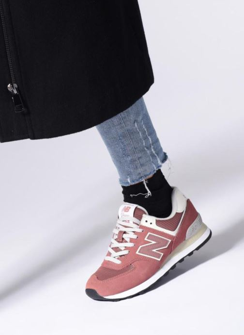 Trainers New Balance WL574 Green view from underneath / model view