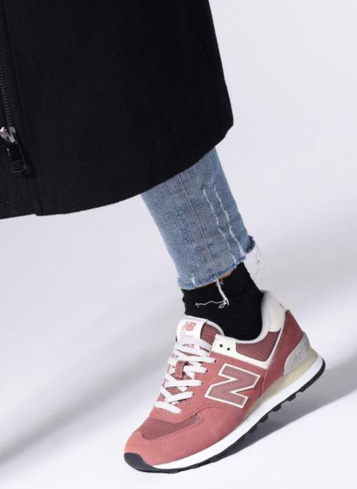 Sneakers New Balance WL574 Verde immagine dal basso