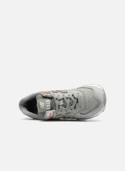 Sneakers New Balance WL574 Verde immagine sinistra