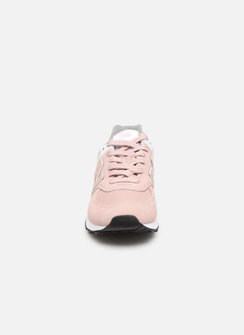 Baskets New Balance WL574 Rose vue portées chaussures